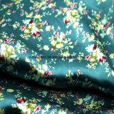 Qualitätspandex-Polyester-Satin-Gewebe mit Form-Druck für Kleid