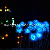 La luz exterior solar linterna de jardín de flores de la batería para la decoración de jardín