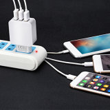 3 Ports White 3.1A 5V UNIVERSAL SYSTEM BUS Concealment Phon Home To charge