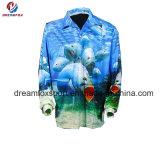 高品質一義的なカスタム釣服装の昇華印刷釣ワイシャツ