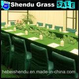 A China faz barato, alta densidade, 10 mm de relva sintética verde escuro para espaço de escritório