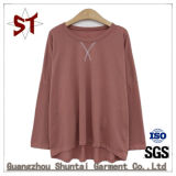 Mulheres T Shirt solta o pescoço de vestuário