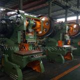 Máquina Inclinable aberta mecânica da imprensa de potência da máquina de perfuração de J23-100t para trás