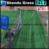 Grama artificial 10mm 250stitch/M para a decoração verde