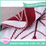 ヨーロッパ式の綿のフィートのCoverletのソファーの投球によって編まれる毛布
