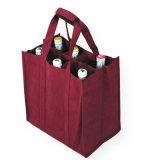 Doubles bouteilles non tissées du sac à provisions de bouteille de vin 1-6