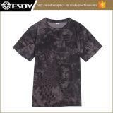 Sports de plein air Esdy O-cou agression respirant à séchage rapide T-Shirts camouflage