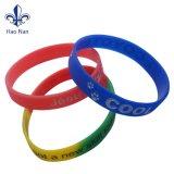 Wristbands su ordinazione del braccialetto di Silicion di alta qualità per i bambini