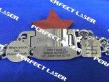 Macchina rotativa dell'indicatore del laser della modifica di cane del metallo del laser 20W della fibra di qualità