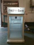 Mini refrigerador com lâmpada, mini refrigerador desktop da bebida da barra