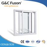 Moustiquaire en acier inoxydable à double vitrage vitre coulissante en aluminium