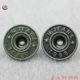 Precio de la fabricación de logotipo personalizado único botón de jeans de metal
