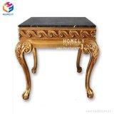Hot Sale Marbre Table console supérieur en verre avec cadre en bois