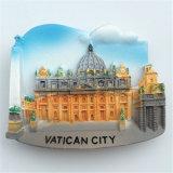 Magneet van de Koelkast van Polyresin van de Gift van de Herinnering van de Vlekken van de Toerist van Parijs Frankrijk 3D
