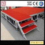 da plataforma de madeira móvel do estágio 18mm de 1.22X2.44m plataformas fáceis do estágio da instalação