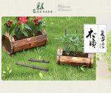 OEM van de Fabriek van China de Met de hand gemaakte Antieke Houten Vaten van de Pot van de Bloem van de Tuin