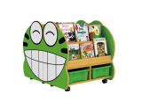 Da biblioteca de madeira da mobília das crianças prateleira de madeira do jogo do papel dos miúdos para a venda Hc-3705