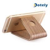 Montaje de escritorio de madera de madera portable del soporte del sostenedor del teléfono