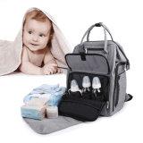 粋なお母さんの赤ん坊のおむつのバックパック袋の方法女性のおむつ袋