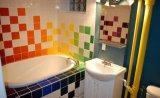 Orange 6X6inch/15X15cm glasierte glatte keramische Wand-Untergrundbahn-Fliese-Badezimmer-/Küche-Dekoration