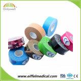 Les soins médicaux le fabricant pour bande de ruban coloré de la kinésiologie