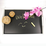 Eco-Friendly antique branco baseia Blackboard Chalk Servingtray Madeira gravável