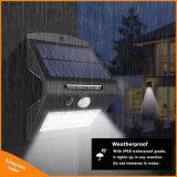 Esterno impermeabilizzare l'indicatore luminoso solare della parete del giardino dei 15 LED con i 4 modi di illuminazione