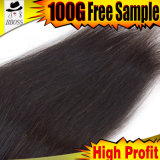 Textures indiennes de cheveu de cheveu de Vierge traité par 100%