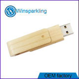 Mémoire en bois de flash USB de lecteur flash USB de torsion bon marché