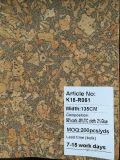 靴袋の装飾(K18-06)のための浸炭窒化の自然なコルクファブリック革