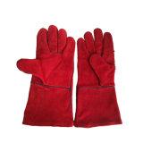 Croûte de cuir de vache des gants de travail industriel à la main, long de la soudure des gants à main