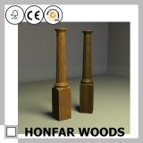 Escalier de haute qualité en bois solide clôturant le balustre pour la décoration d'hôtel