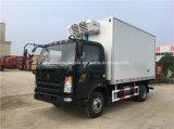 Caminhão do refrigerador de Sinotruk 4X2 caminhão do transporte do marisco de 5 T