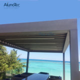 Electric Modern Gazebo Pergola with Shade Shutter Blade