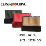 Unité centrale initiale de modèle de nouveau produit avec le sac cosmétique de mode matérielle de fourrure pour le cadeau
