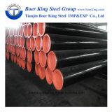 Q235 Q345 ser soldado do tubo de aço carbono preto