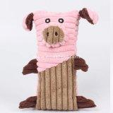 Venda por grosso de cão de estimação recheadas de vaca gado macio Plush brinquedo de suínos