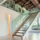 Hierro forjado prefabricadas escaleras rectas de metal utilizado para interiores