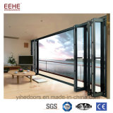 Fabricación de aluminio de la puerta del doblez del BI de la puerta de vidrio de desplazamiento en Foshan