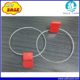 Étiquette bleue de joint d'IDENTIFICATION RF de fil d'acier de couleur rouge pour le conteneur
