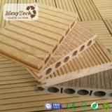 De nieuwe Houten Vloer die van de Textuur Samengestelde Houten Bevloering WPC Decking behandelen