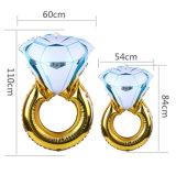 Bague en diamant de la forme de ballon en aluminium pour la fête de mariage decoration