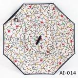 Подгонянный перевернутый слой ручки c двойной/зонтик обратного выдвиженческий