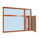 Finestra di alluminio di vetro riflettente della stoffa per tendine per i clienti europei