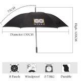 Großhandelsqualitäts-preiswerte silberne Beschichtung-kundenspezifischer Golf-Regenschirm