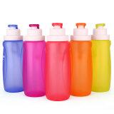 BPA는 320ml를 가진 재사용할 수 있는 접을 수 있는 스포츠 실리콘 물병을 해방한다