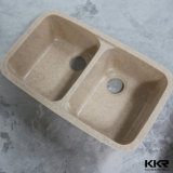 Pedra artificial sob o dissipador de cozinha de superfície contínuo contrário (171222)