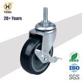 3 Zoll-Schrauben-Schwenker PU-industrielle Fußrolle