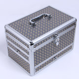Caso a beleza de alumínio estojo de maquilhagem com gavetas