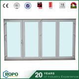 Doppelte Innen-UPVC Tür-heißer Verkauf der Glas Belüftung-Falz-Tür-